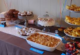 donut party birthday theme breakfast buffet french toast