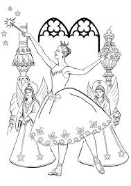 free printable kids colouring pages sugarplum fairy