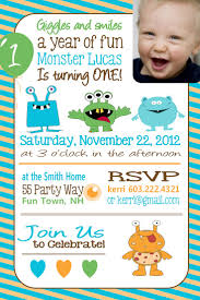 How To Make Invitation Cards At Home 1st Birthday Monster Invitations Vertabox Com