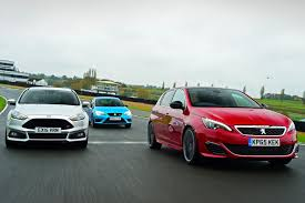 Peugeot 308 Auto Express by Peugeot 308 Gti Vs Ford Focus St Mountune Vs Seat Leon Cupra