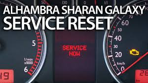how to reset service reminder in sharan galaxy alhambra