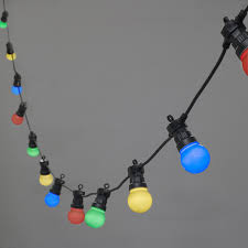 Location Guirlande Lumineuse by Guirlande Guinguette Raccordable Avec 60 Globes Led Multicolores