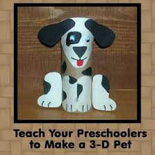 Craft Project Ideas For Kids - preschool pet crafts make a 3 d pet and a pet bulletin board for