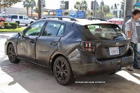 subaru crosstrek black wheels 2017 subaru impreza sedan prototype spotted testing