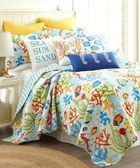 Green Duvets Covers Levtex Home Blue Green Coral Reef Quilt Set Blue And Green