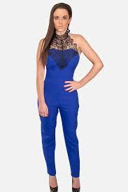 royal blue jumpsuit royal blue jumpsuit with lace skystruk