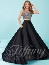 gown designs designs 16258 beaded crop top prom dress