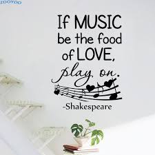 music note home decor zooyoo if music be the food of love wall stickers music note home