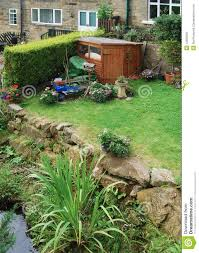 terraced garden shed stock photo image 44958100