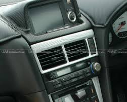 nissan r34 interior for nissan r34 gtr carbon fiber air con surround fibre interior trim