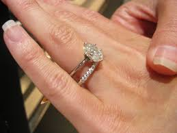 plain engagement ring with diamond wedding band things engagement rings threembride