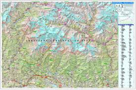 Himalayan Mountains Map Maps Of The Annapurna Himal Region