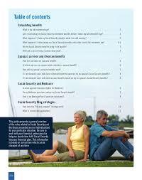Social Security Retirement Age Table Social Security Q U0026a Brochure