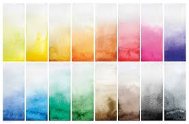 bold color color watercolor swatches