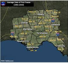Valdosta Map Frost And Freeze Information For The Nws Tallahassee Area