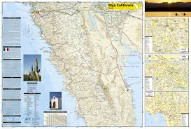 Mexico Toll Road Map by Baja North Baja California Mexico National Geographic