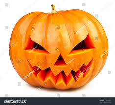 pumpkin halloween jack olantern isolated white stock photo