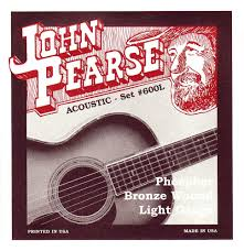 Medium Light Guitar Strings by John Pearse Strings Light Guitar Set Phosphor Bronze Amazon Co