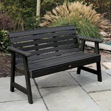 5ft Garden Bench Highwood Weatherly 4 Foot Eco Friendly Marine Grade Synthetic Wood