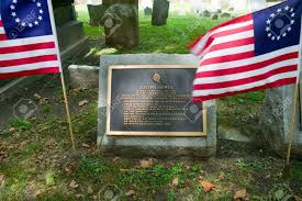 Flag Of Philadelphia Joseph Hewes Gravestone In Christ Church Burial Ground