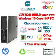 pc bureau ssd custom spec pc hp elite i3 i5 desktop computer ssd 8gb ram