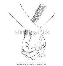 hand sketch holding hands stock vector 247452049 shutterstock