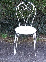 vintage french wrought iron garden patio chair