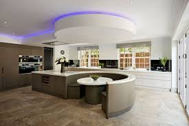 Cduk Corian Corian Puts Curves In All The Right Places This Open Plan Kitchen