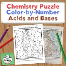 chemistry puzzle color by acids bases weak and strong acid base
