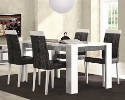 black high gloss finish wooden table minimalist dining room design