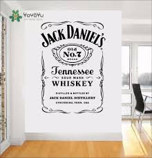 aliexpress com buy yoyoyu wall decals jack daniels jd wall art aliexpress com buy yoyoyu wall decals jack daniels jd wall art sticker jennesse whiskey carving quote wal decoration removable stickers y013 from reliable