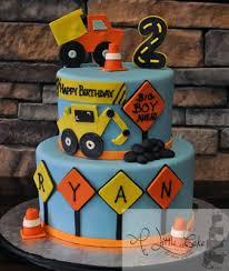 construction birthday cake construction themed 2nd birthday cake a cake