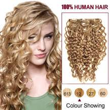 curly clip in hair extensions buy 16 golden brown 12 7pcs curly clip in indian remy hair