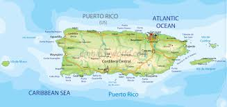 Map Of The Caribbean Islands by Map Of Puerto Rico Caribbean Islands
