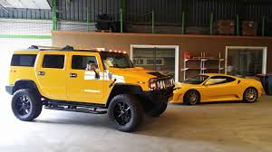 yellow ferrari f430 and hummer h2 eric pinterest hummer h2