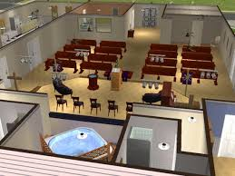church baptistry mod the sims community church requested furnished