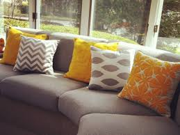 Curved Fabric Sofa by Throw Pillows Furniture Lounge Room Gray Ideas Of Very Graceful