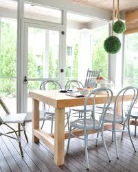 Dining Room Table Restoration Hardware by Screened Porch Updates Metal Bentwood Chairs And A Diy Dining