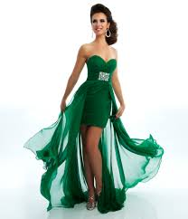 the long and short emerald green dress wedding ideas