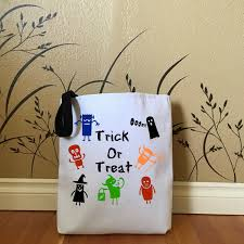 halloween trick or treat bag with little monsters kids tote bags