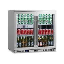 beverage cooler with glass door amazon com kingsbottle 169 can 2 door under counter beverage