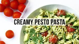 low fat creamy pesto pasta recipe vegan u0026 healthy youtube