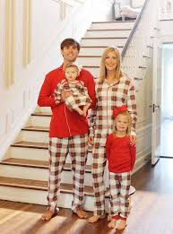 monogrammed tartan plaid matching family pajamas matching family