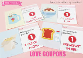 free printable valentine u0027s day love coupons