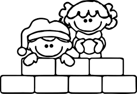 winter kids play coloring page wecoloringpage