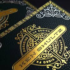 black and gold foiled business cards jukeboxprint