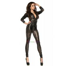 spandex jumpsuits silvery golden hollow out spandex bodysuit onesies