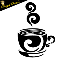 swirl coffee cup cafe vinyl wall art decal stickers kitchen decor swirl coffee cup cafe vinyl wall art decal stickers kitchen decor