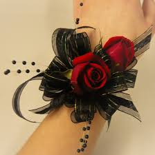 and black corsage corsage with black ribbon and black spray pearls haeven s