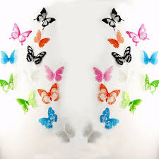 cute 3d butterfly wall decals set bring a touch of whimsy and cuteness in every room with these cute wall decals set